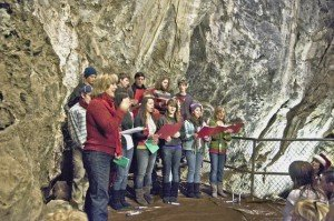 """Caroling in the Caves"" at Moaning Caverns"