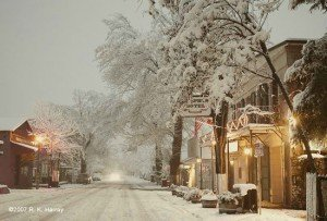 Main Street in Winter, Murphys, California